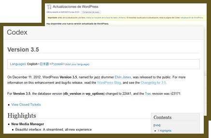 Actualización segura de WordPress, plugins y themes